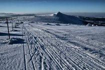 Trasa narciarska przed Szrenicą