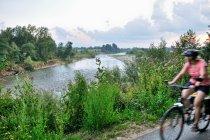 Trasa rowerowa wzdłuż Dunajca