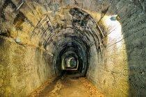 Tunel na drodze rowerowej w Val di Fiemme