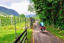 Turyści rowerowi w Val di Sole