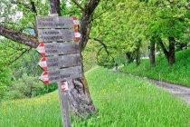 Turystyczne drogowskazy przed Kaltenbrunn