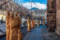 Uliczna galeria rzeźby w Bolzano