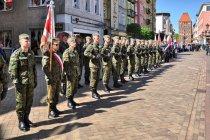 Uroczystości 3 Maja na rynku w Chojnicach