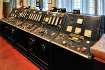 W rodzielni - obecnie muzeum elektrowni