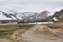 W stronę kempingu w Landmannalaugar