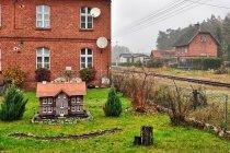 W tle stacja kolejowa PKP Powałki