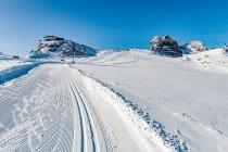 Widok na Dachstein z trasy narciarskiej