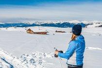 Widok na pobliskie pasma Dolomitów