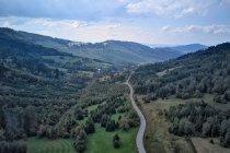 Widok na Słowację z przełęczy Graniczne