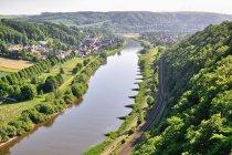 Widok na Wezerę z Weser-Skywalk