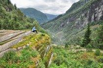 Widok z Moo, ponad Skjervsfossen