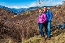 Widoki z naszego sadu w Dolomitach