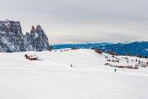Widoki z trasy Panorama na Alpe di Siusi