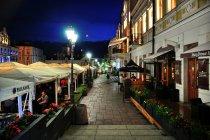 Wieczorem na rynku w Rzeszowie