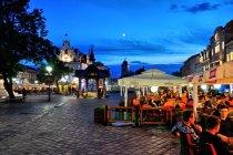 Wieczorny rynek w Rzeszowie
