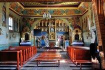 Wnętrze cerkwi w Binczarowej