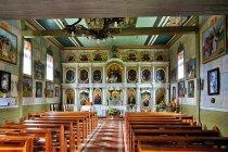 Wnętrze cerkwi w Wisłoku Wielkim