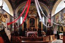 Wnętrze kościoła w Istebnej