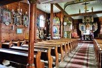 Wnętrze kościoła w Leśnie