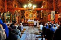 Wnętrze kościoła w Sękowej