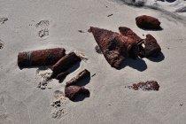 Wyrzucone przez morze ślady wojny