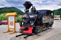 Zabytkowa lokomotywa kolejki leśnej