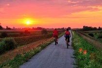 Zachód Słońca nad Velo Dunajec