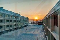 Zachód Słońca z hotelu Sokos w Kuusamo