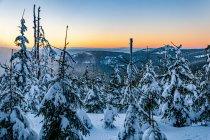 Zachodzące Słońce pod Śnieżnikiem