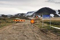 Zamknięty południowy odcinek drogi F208