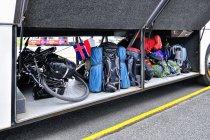 Zapakowane rowery do autobusu Reykjavik Excursions