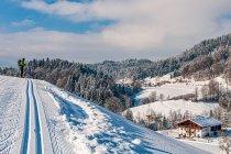 Zimowa sceneria w Austrii