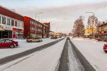 Zimowe ulice Kuusamo