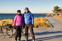 Zimowi rowerzyści