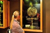 Złota monstrancja w skarbcu w Pelplinie