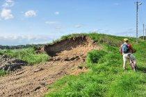 Zniszczony wał przeciwpowodziowy pod Malborkiem
