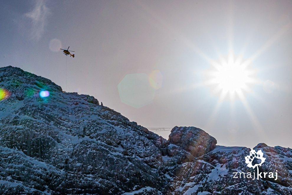 Akcja ratunkowa nad masywem Dachstein