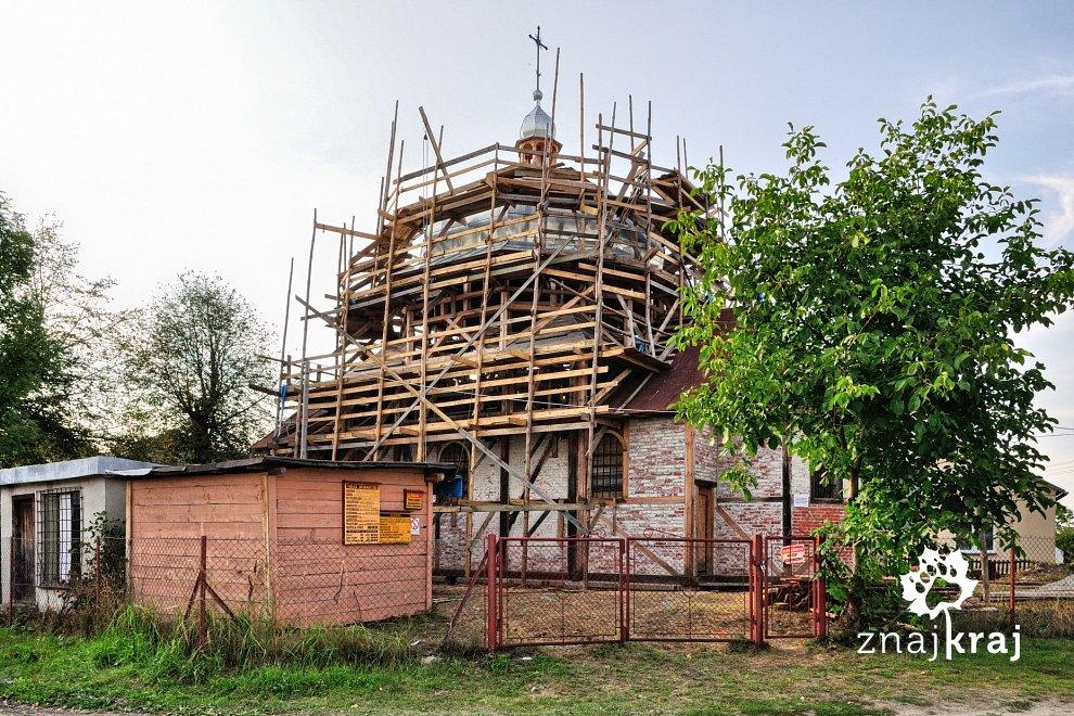 Cerkiew z muru pruskiego w Wielkich Oczach