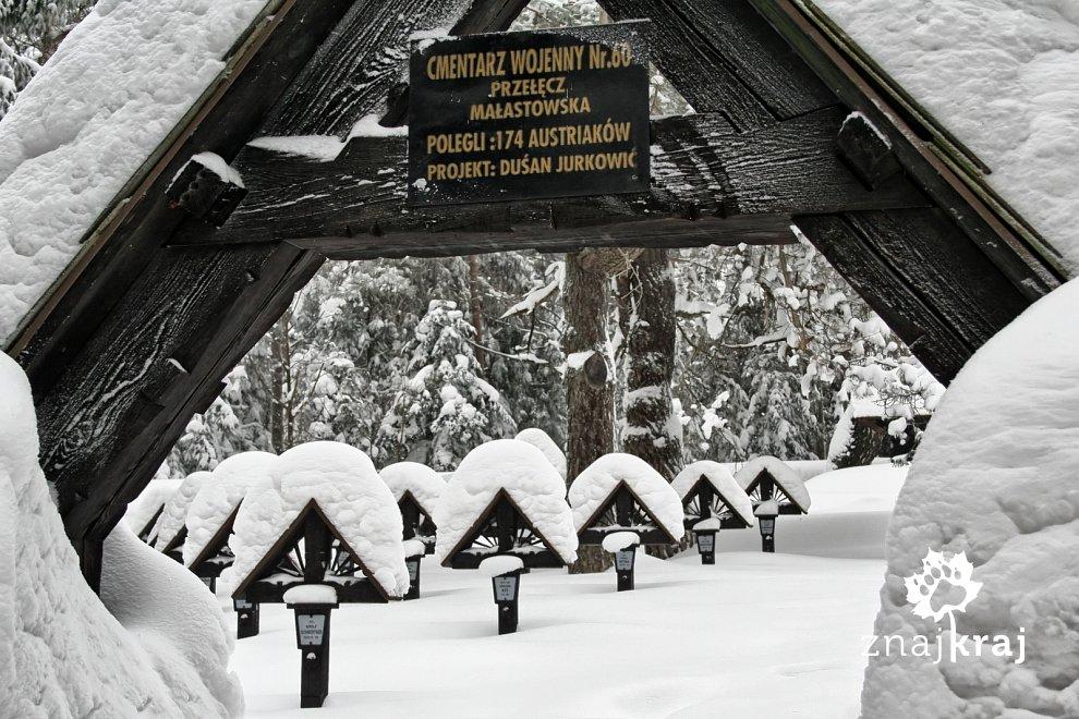 Cmentarz Dusana Jurkovica na Przełęczy Małastowskiej