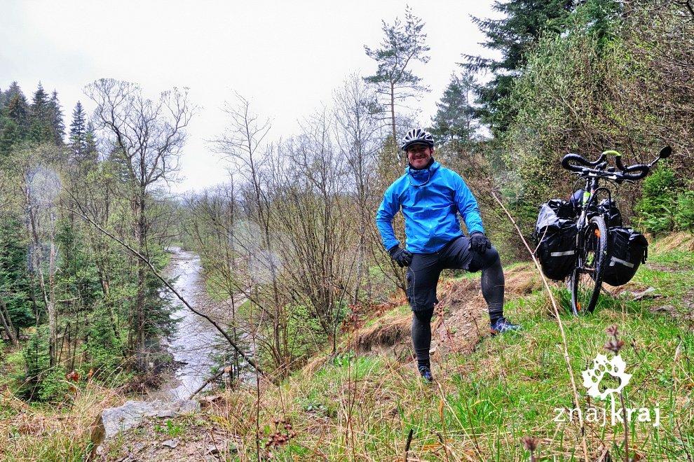 Deszczowy rowerowy Beskid Niski