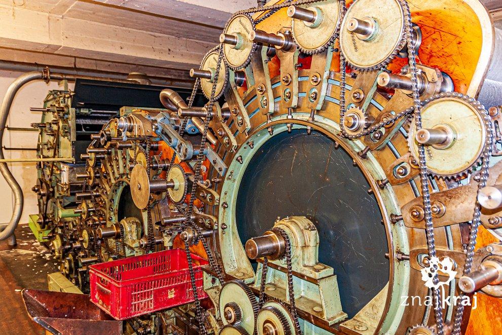 Jedna z maszyn w fabryce Lodenwalke