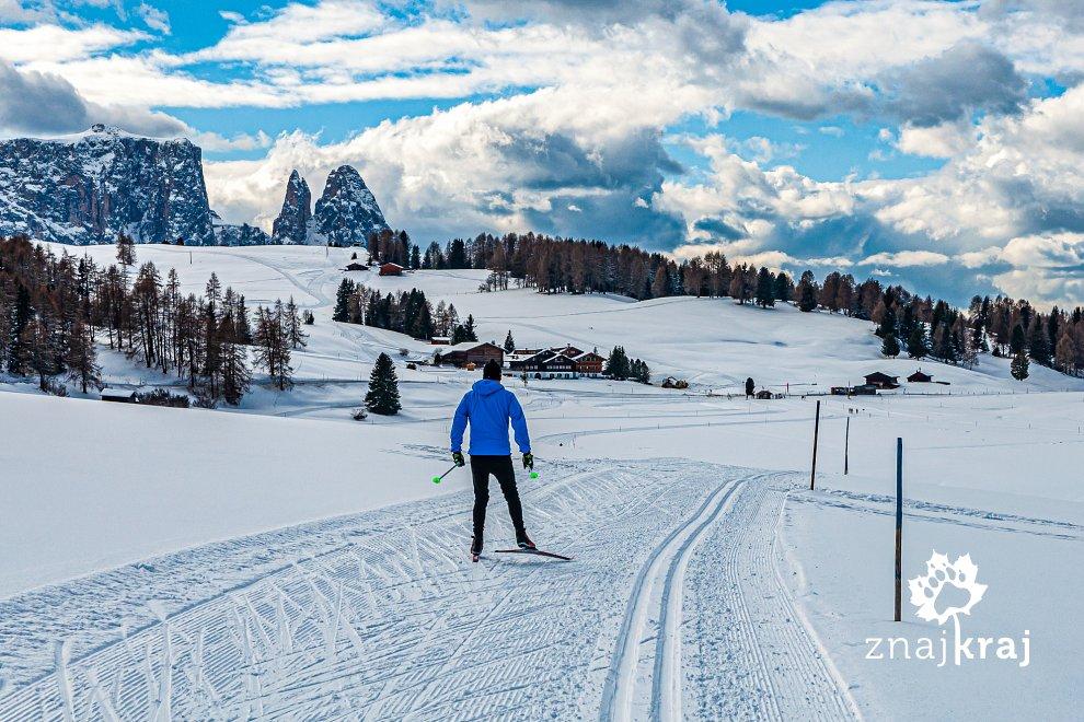 Malga - centrum tras narciarskich Alpe di Siusi