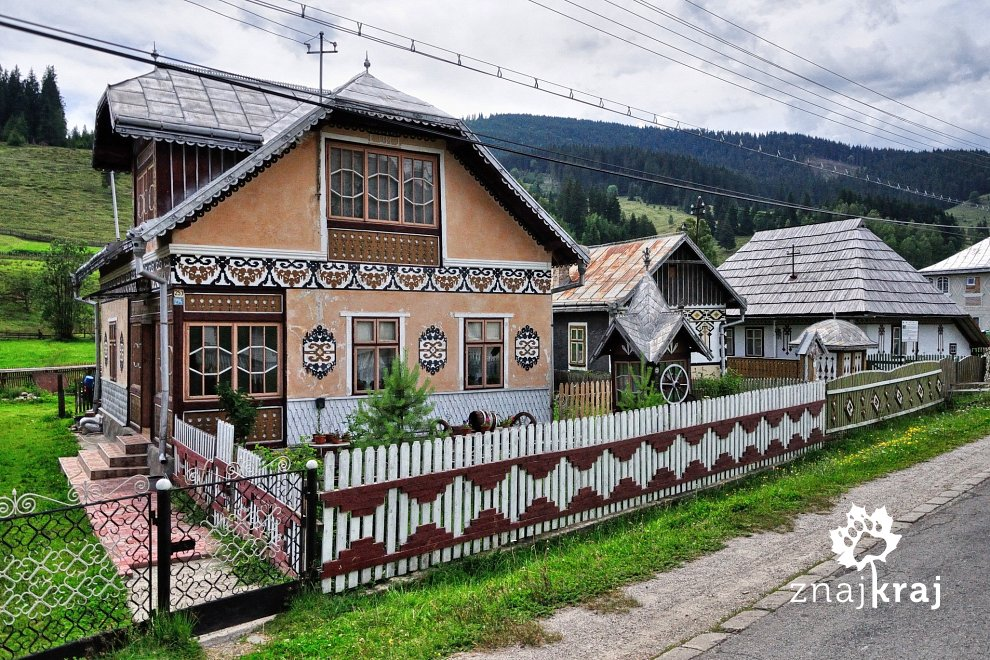 Malowany dom na Bukowinie