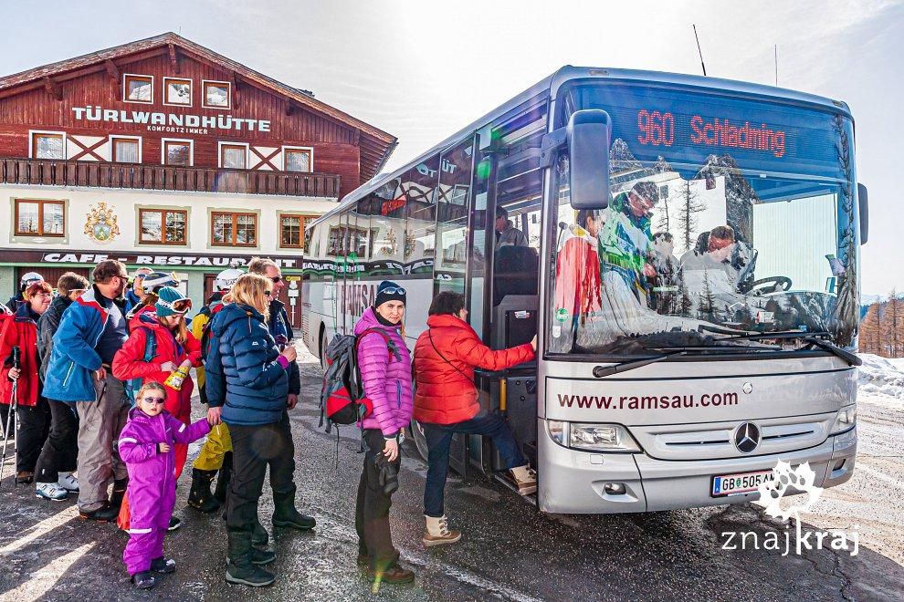 Autobusem spod Dachsteinu do Ramsau