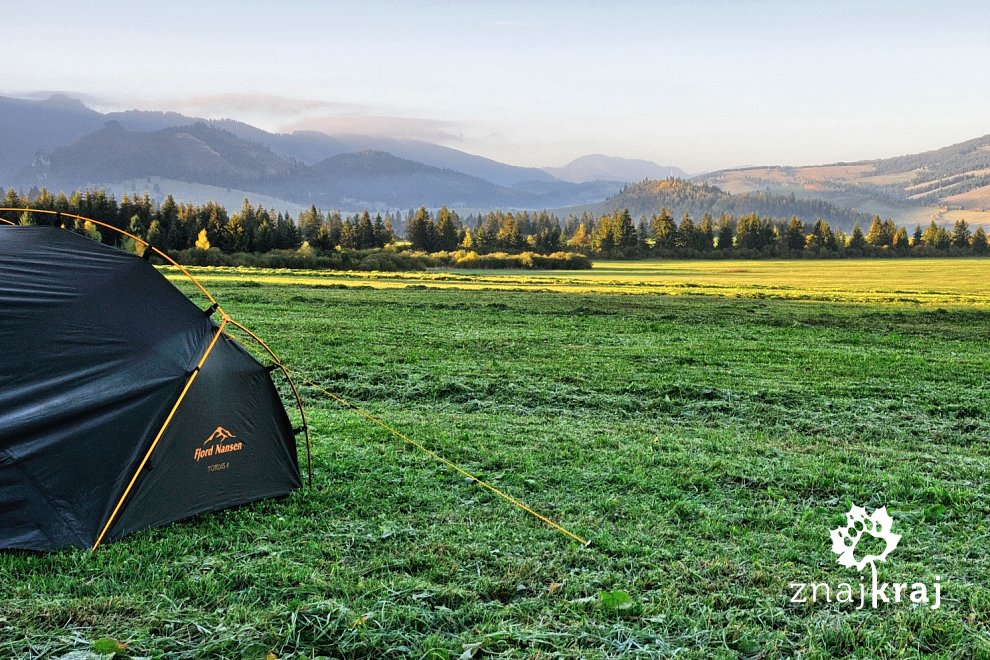 Namiot Fjord Nansen Tordis w Tatrach