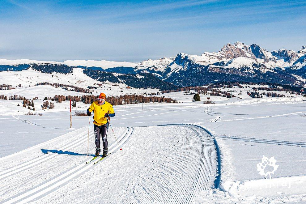 Dolomity na nartach biegowych