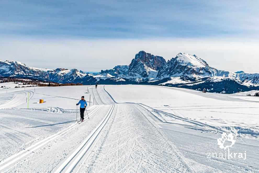 Szlak narciarstwa biegowego w Dolomitach