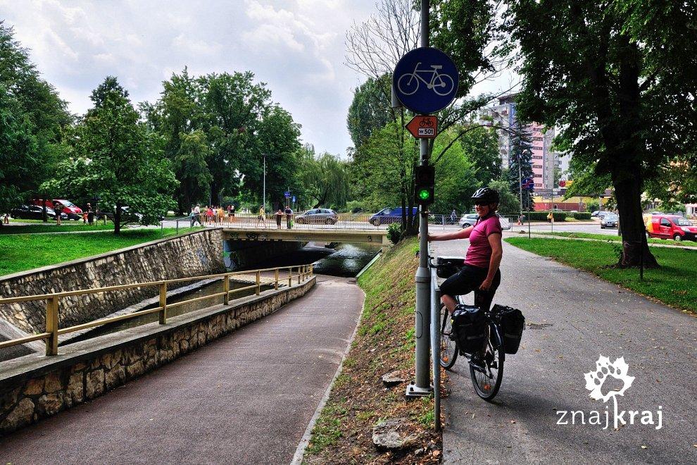 Oryginalny przejazd rowerowy w Kielcach