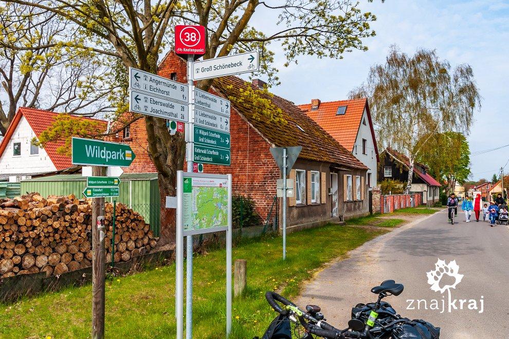 Rowerowe drogowskazy w Niemczech