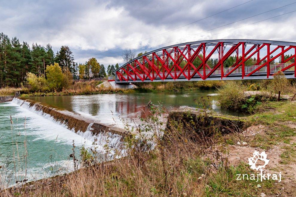 Most rowerowy na Czarnym Dunajcu